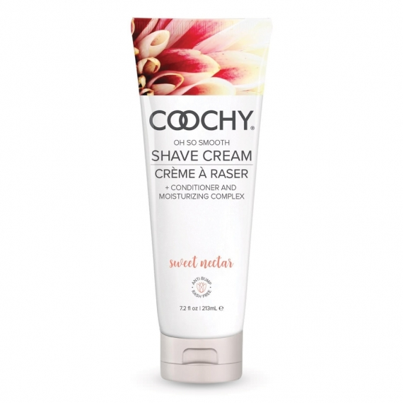 Coochy Oh So Smooth Shave Cream Conditioner And Moisturizing Complex Sweet Nectar 7.2 Fl.oz.
