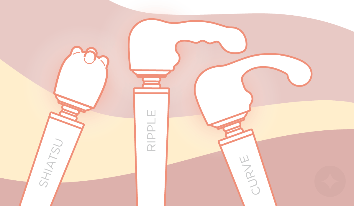 Wand vibrators: There are three attachment covers available for Le Wand.