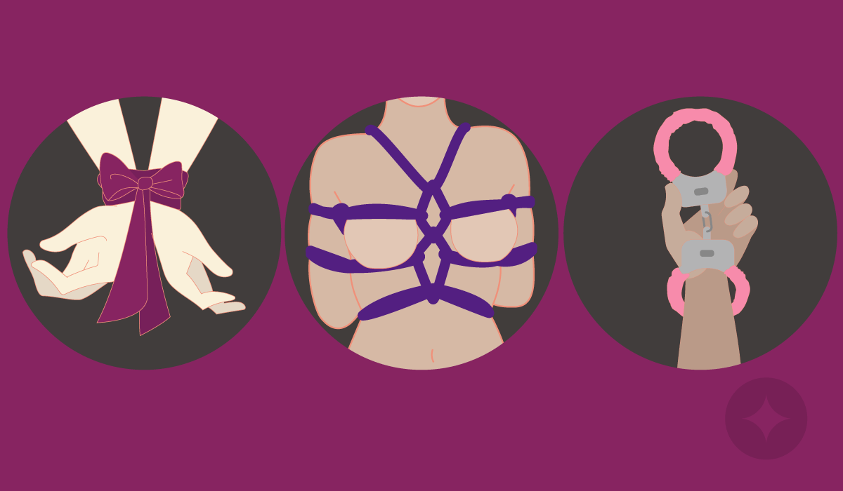 The most common example of bondage play is being tied up