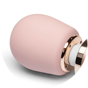 The head of the Le Wand Petite Massager is made from 100% body-safe silicone