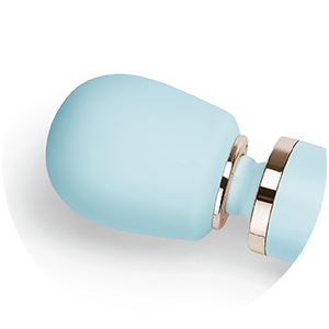 The head of the Le Wand Powerful Plug-In Vibrating Massager is made from 100% body-safe silicone