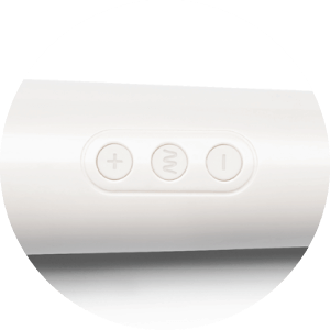 Turn on and glide through the settings of the Le Wand Massager with one-touch, easy to use controls